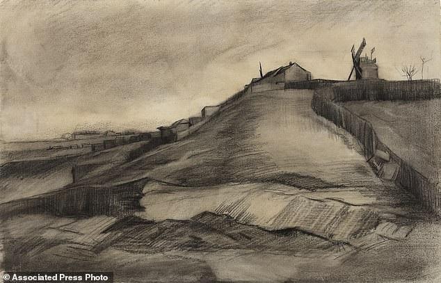 """Viện bảo tàng Van Gogh ở Amsterdam, Hà Lan, mới đây đã khẳng định rằng bức phác họa """"Đồi Montmartre và mỏ đá"""" (ảnh), vốn thuộc sở hữu của Quỹ Nghệ thuật Van Vlissingen, chính là một bức phác họa do Van Gogh thực hiện. Giờ đây, bức phác họa đang được trưng bày lần đầu tiên trong vòng 100 năm."""