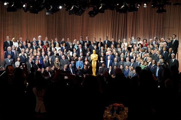 Những ngôi sao được đề cử tại lễ trao giải Oscar 2018 vừa hội ngộ trong bữa tiệc chiêu đãi tổ chức tại khách sạn Beverly Hilton, California, Mỹ