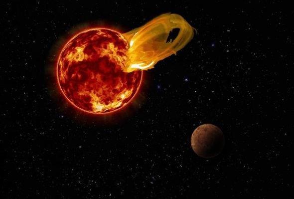 Hình ảnh minh họa về một cơn bão (tai lửa) mặt trời.
