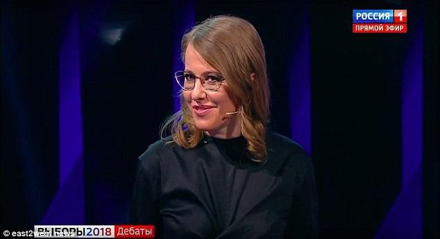 Ứng cử viên Tổng thống Nga Kseniya Sobchak. (Ảnh: East2west)