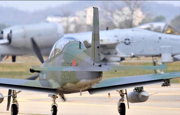 Máy bay kiểm soát tấn công KA-1 của Hàn Quốc tại căn cứ không quân Osan của Mỹ ở Pyeongtaek. (Ảnh: AFP)