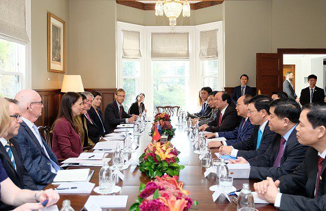 Hai Thủ tướng tại cuộc hội đàm trong chuyến thăm chính thức