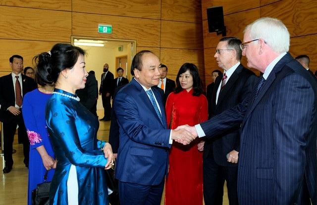 Thủ tướng và Phu nhân tới thăm Đại học Waikato. Ảnh: VGP/Quang Hiếu