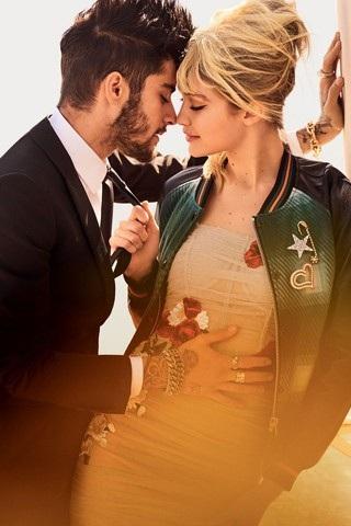 Gigi từng hết lời khen Zayn trong các cuộc trả lời phỏng vấn, cô khen bạn trai thông minh, hai người có nhiều điểm chung và chia sẻ được như những người bạn thân thiết.