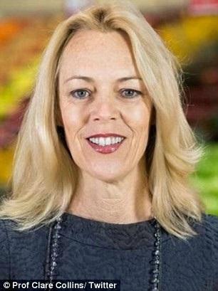 Clare Collins là chuyên gia dinh dưỡng và đái tháo đường của ĐH Newcastle