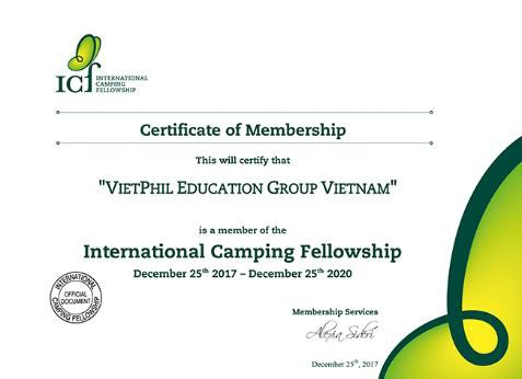 VietPhil Camp – 1 trong 2 thành viên duy nhất tại Việt Nam của Hiệp hội Trại hè Quốc Tế
