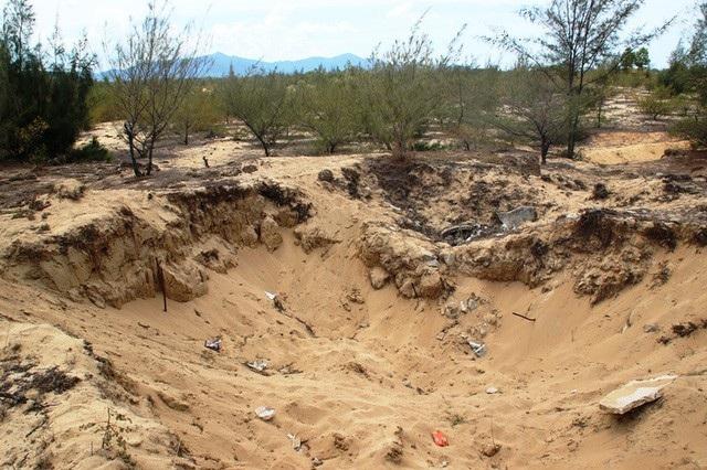 Khai thác titan bừa bãi, có nguy cơ hủy hoại môi trường ở Bình Thuận (Ảnh minh họa)