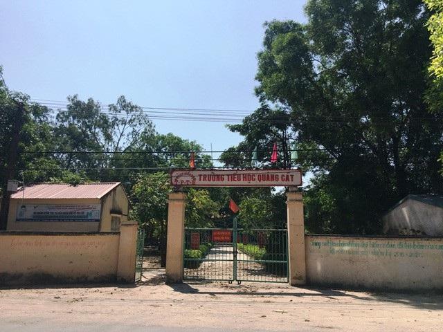 Trường Tiểu học Quảng Cát- nơi xảy ra nhiều sai phạm đã được thanh tra UBND TP Thanh Hóa chỉ rõ.