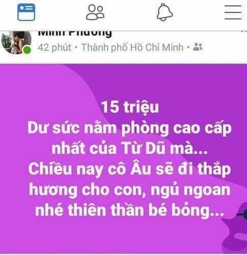 Ảnh chụp màn hình thông tin trên facebook cá nhân của Minh Phương