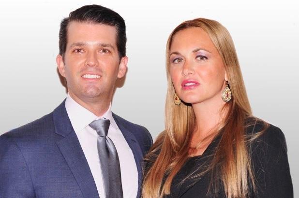 Vợ chồng ông Donald Trump Jr. (Ảnh Getty)