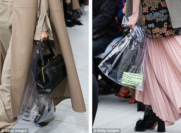 Theo gợi ý kết hợp của nhà thiết kế, bạn có thể dùng chiếc túi trong suốt này với một túi nhỏ hoặc ví bên trong để trở nên… kín đáo hơn.