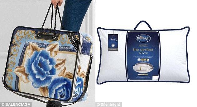Cũng chính thương hiệu này cho ra mẫu túi xách có giá 3.240 USD trông hệt như chiếc túi đựng chăn (phải).