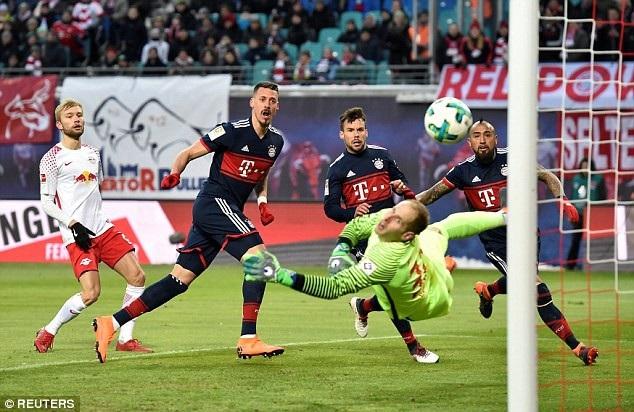 Dù ghi bàn thắng trước nhưng Bayern Munich vẫn thất bại trước Leipzig