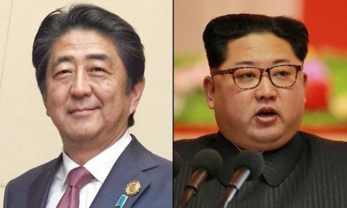 Thủ tướng Nhật Bản Shinzo Abe và nhà lãnh đạo Triều Tiên Kim Jong-un (Ảnh: Getty)