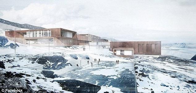 Mô phỏng thiết kế của nhà tù Ny Anstalt (Ảnh: Facebook)