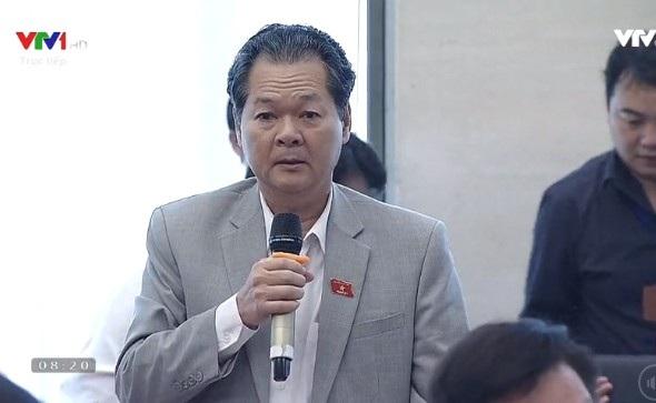 Đại biểu Trương Minh Hoàng (Cà Mau) tại phiên chất vấn