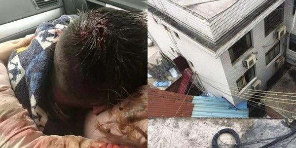 Vết thương trên đầu cậu bé và căn hộ nơi xảy ra vụ việc