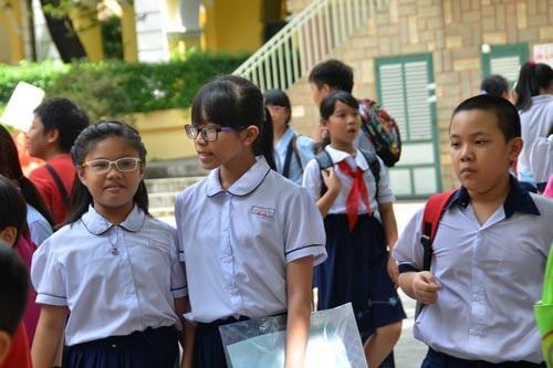 Học sinh thi khảo sát vào Trường THPT chuyên Trần Đại Nghĩa (TP HCM). (Ảnh: Tấn Thạnh)