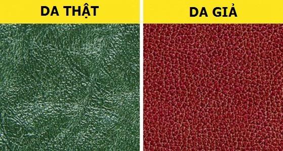 Cách phân biệt chất liệu da thật và da tổng hợp - 2