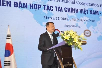 Thống đốc Lê Minh Hưng phát biểu chào mừng Diễn đàn