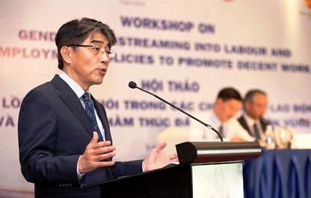 Ông Chang Hee-Lee, Giám đốc Tổ chức lao động quốc tế (ILO) tại VN.