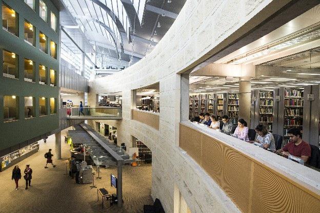 Hệ thống thư viện hiện đại của ĐH Otago New Zealand.
