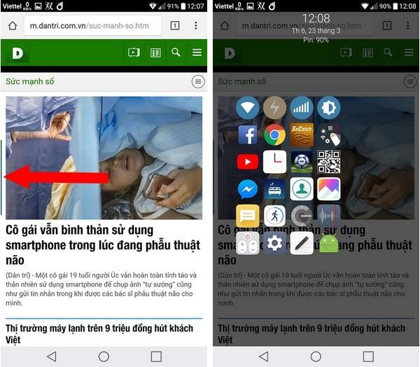 Cách hay giúp sử dụng smartphone màn hình lớn bằng một tay - 6