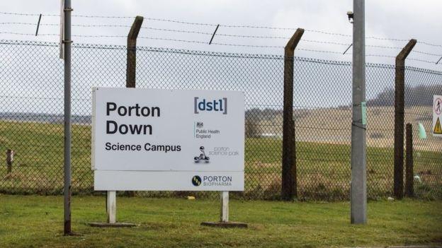 Căn cứ nghiên cứu quân sự Porton Down của Anh (Ảnh: Getty)