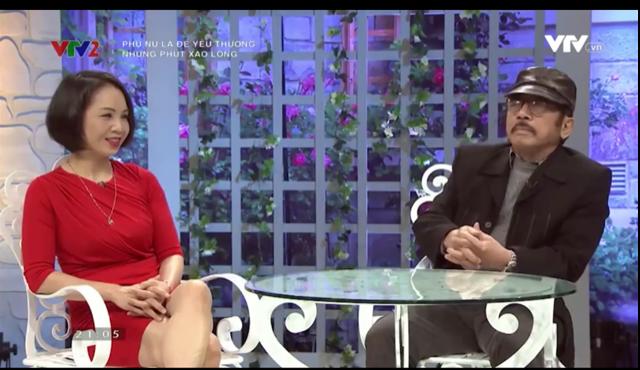 Nhà văn Chu Lai và nghệ sĩ Minh Thúy trong buổi trò chuyện Những phút xao lòng của Phụ nữ là để yêu thương.