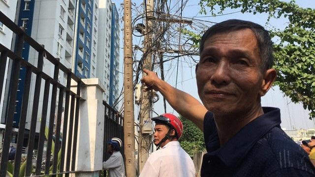 Ông Võ Tấn Long xác nhận hệ thống báo cháy, chữa cháy của chung cư không hoạt động và cư dân đã báo chủ đầu tư từ lâu.