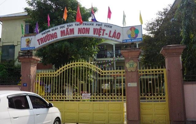 Trường Mầm non Việt - Lào, nơi xảy ra vụ việc phụ huynh xông vào trường đánh giáo sinh thực tập.