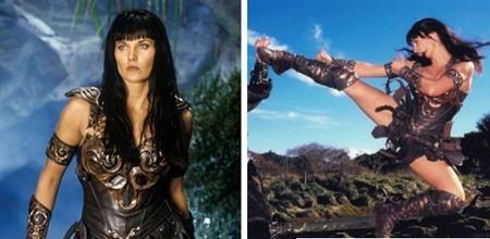 """Lucy Lawless, ngôi sao nổi tiếng của loạt phim """"Xena: Warrior princess"""" không thể tự mình thực hiện hết các cảnh quay hành động và Zoë Bell chính là người đã đóng thế cho Lucy Lawless."""