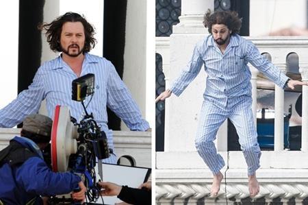Dĩ nhiên, Johnny Depp khó mà có thể hoàn thành tốt được các phân cảnh hành động và phải nhờ đến một diễn viên đóng thế chuyên nghiệp như Theo Kypri.