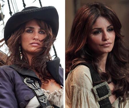 """Mónica Cruz, người đã đóng thế cho Penélope Cruz trong bộ phim """"Pirates of the Caribbean: On stranger tides"""" quả thực trông rất giống với nữ diễn viên người Tây Ban Nha vì trên thực tế, Mónica và Penélope là hai chị em ruột."""