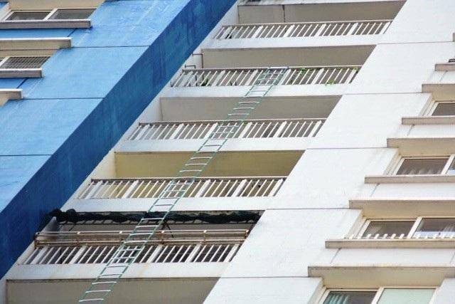 Sản phẩm thang dây được một nạn nhân sử dụng khi xảy ra vụ cháy chung cư Carina.