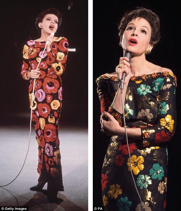 """Cuộc đời nữ diễn viên quá cố người Mỹ Judy Garland tới đây sẽ được tái hiện lại trong bộ phim tiểu sử """"Judy"""". Nữ diễn viên Renee Zellweger sẽ là người nhập vai huyền thoại điện ảnh Judy Garland. Bạn có thể phân biệt đâu là nguyên mẫu và đâu là """"nhập vai""""? Renee Zellweger (phải) đã gây choáng ngợp bởi sự hóa thân hoàn hảo."""