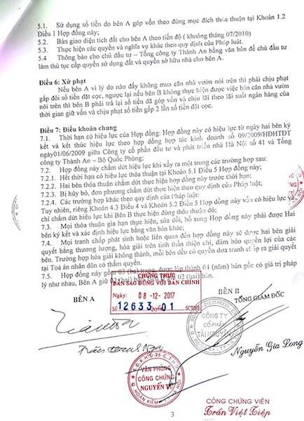 Ngày 31/03/2010, dưới sự giới thiệu và mời chào của Công ty cổ phần Tài nguyên, ông Trần Thanh Nga (SN 1942) đã góp vốn mua căn nhà vườn trong dự án khu chung cư Nhân Chính.