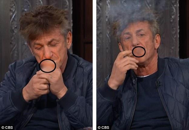 Trước khi châm thuốc hút ngay trong cuộc phỏng vấn lên hình trực tiếp, Sean Penn đã chia sẻ với người dẫn chương trình rằng anh vẫn đang chịu tác dụng của viên thuốc ngủ vừa uống gần đó.