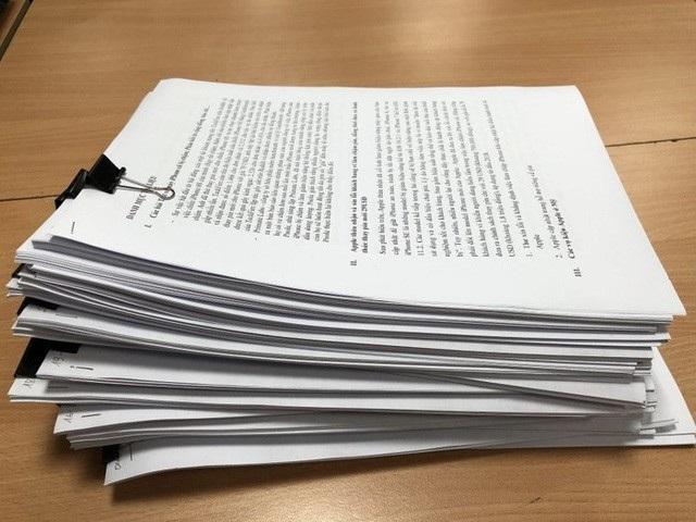 Hồ sơ nguyên đơn gửi tới TAND TPHCM.