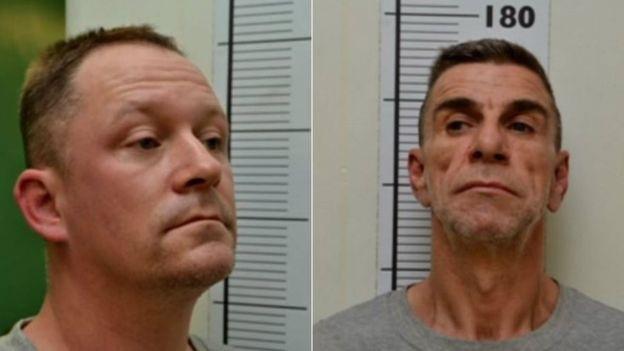 Hai nghi phạm Stephen Unwin (bên trái) and William McFall (Ảnh: Cảnh sát Northumbia)