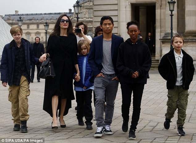 Nữ diễn viên xinh đẹp sống với 6 đứa con kể từ khi đệ đơn ly dị Brad Pitt.