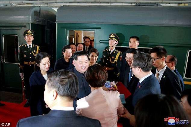 Đoàn tàu dành cho lãnh đạo Triều Tiên được cho là được bọc thép kiên cố. (Ảnh: AP)