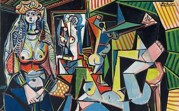 """2 - """"Les Femmes dAlger (Version O)"""" (Những người phụ nữ Algiers - phiên bản O - 1955) của danh họa người Tây Ban Nha Pablo Picasso, có giá 179,4 triệu USD (4.077 tỷ đồng). Tác phẩm được đấu giá hồi năm 2015 tại New York."""