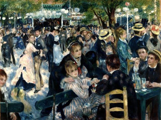 """6 - """"Bal du moulin de la Galette"""" (Khiêu vũ ở cối xay gió Le moulin de la Galette - 1876) của danh họa người Pháp Pierre-Auguste Renoir từng được mua hồi năm 1990 ở mức 78,1 triệu USD, tương đương với 143,2 triệu USD (3.254 tỷ đồng) ở thời điểm hiện tại."""