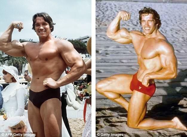 """Thời trẻ, Arnold được xem là nam tài tử """"cơ bắp"""" trứ danh của màn bạc với hàng loạt những vai diễn hành động đã đi vào lịch sử điện ảnh."""