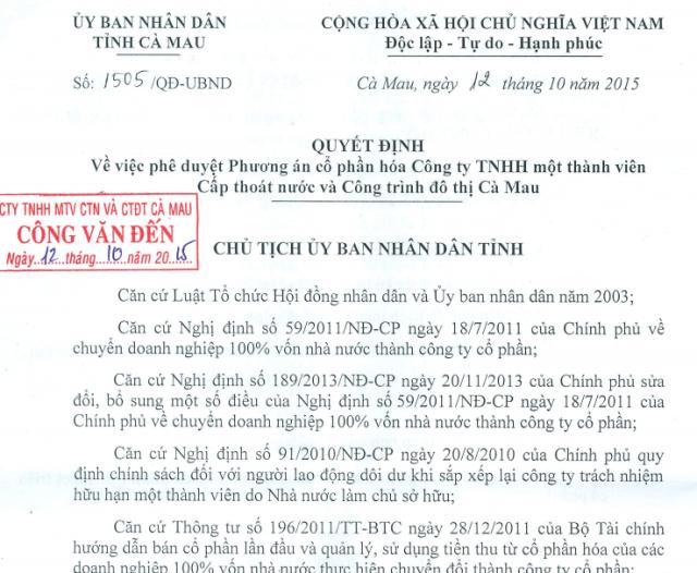 Chủ tịch tỉnh yêu cầu Công ty Cấp nước Cà Mau sớm trả nợ cho người lao động! - 1