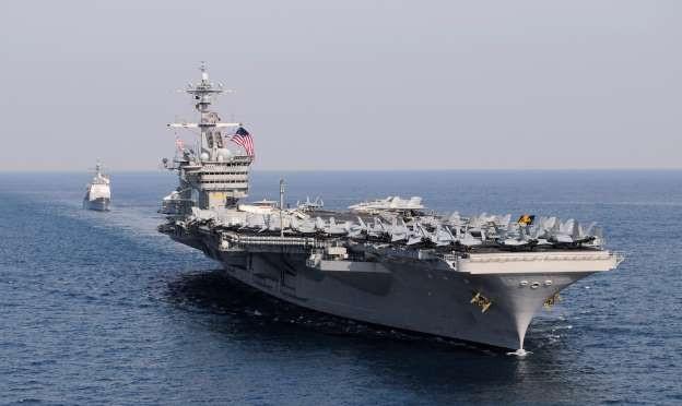 Tàu sân bay Mỹ USS tới Việt Nam (ảnh: MSN)