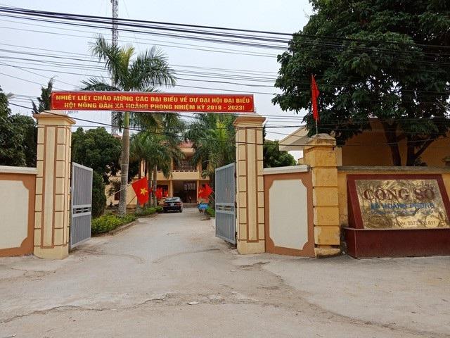 Xã Hoằng Phong, nơi xảy ra sự việc