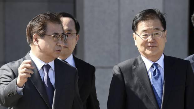 Chuyến thăm của phái đoàn Hàn Quốc tới Triều Tiên nhằm hạ nhiệt căng thẳng liên Triều. (Ảnh: Getty)