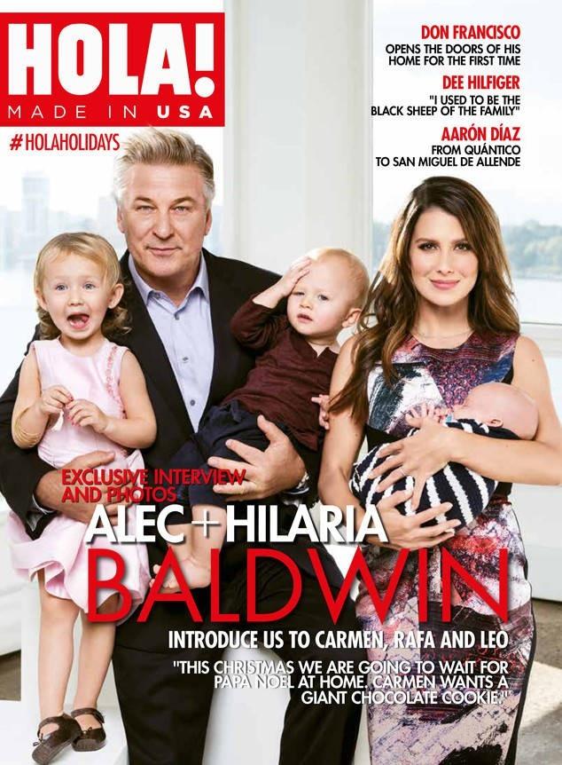 Gia đình hạnh phúc của Alec và Hilaria.